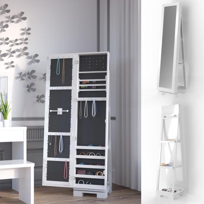 schmuckschrank spiegelschrank leiterregal lucie. Black Bedroom Furniture Sets. Home Design Ideas
