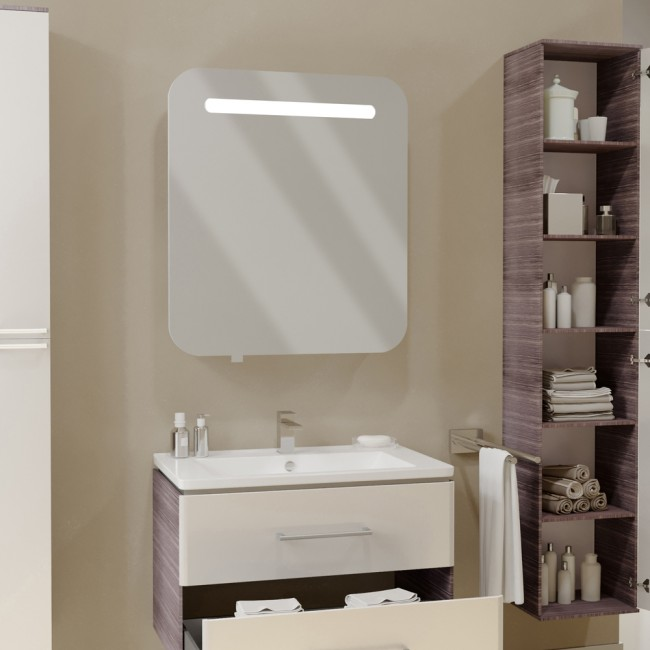 vicco led spiegelschrank falsterbo 70 cm wei. Black Bedroom Furniture Sets. Home Design Ideas
