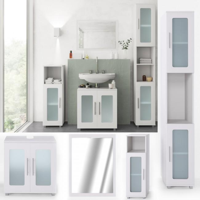 vicco badm bel set rayk 4 teile wei. Black Bedroom Furniture Sets. Home Design Ideas