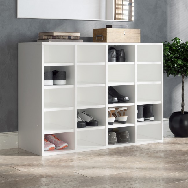 schuhregal lysander wei. Black Bedroom Furniture Sets. Home Design Ideas