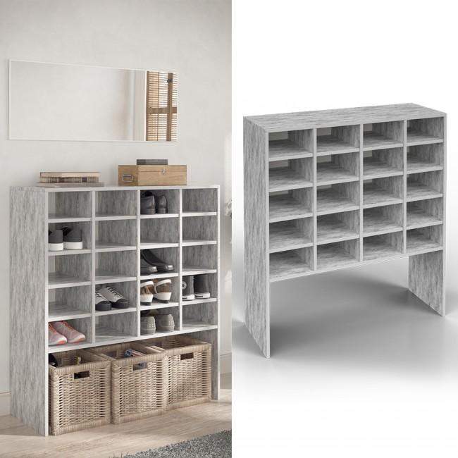 schuhschrank schrank schuhregal schuhst nder schuhe schuhablage standregal beton. Black Bedroom Furniture Sets. Home Design Ideas