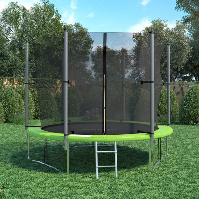xl trampolin 305 cm gartentrampolin komplettset mit netz innenliegend. Black Bedroom Furniture Sets. Home Design Ideas
