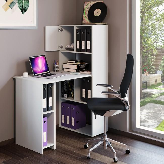 vicco schreibtisch regalkombination 114 x 60 cm wei. Black Bedroom Furniture Sets. Home Design Ideas