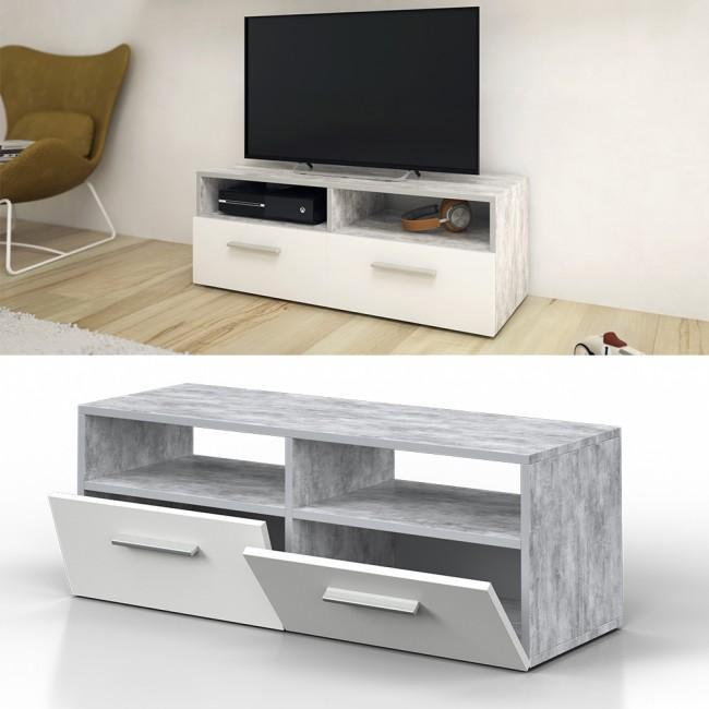 vicco lowboard diego 95 cm grau beton. Black Bedroom Furniture Sets. Home Design Ideas
