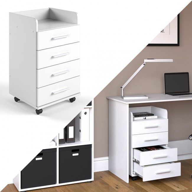 rollcontainer aktenschrank b rohelfer wei matt. Black Bedroom Furniture Sets. Home Design Ideas