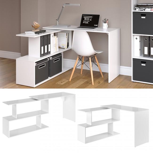 Schreibtisch Weiß Hochglanz 2021