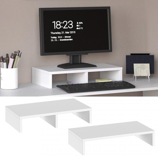 monitorst nder schreibtisch aufsatz wei. Black Bedroom Furniture Sets. Home Design Ideas
