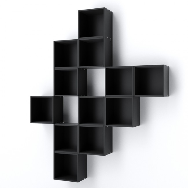regal thalia 25cm schwarz. Black Bedroom Furniture Sets. Home Design Ideas