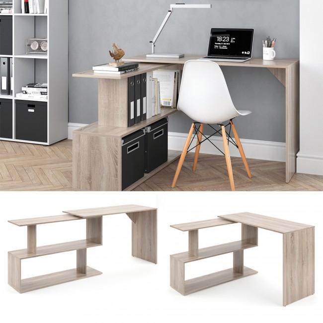 schreibtisch levia sonoma. Black Bedroom Furniture Sets. Home Design Ideas