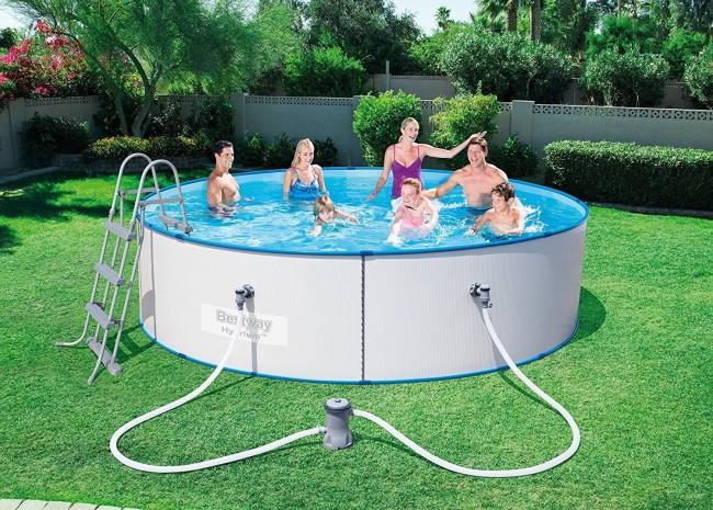Bestway hydrium pool set 360x90 stahlwandpool rund for Stahlwandpool angebot