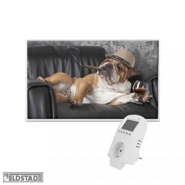 eldstad infrarotheizung 600 watt bildheizung thermostat. Black Bedroom Furniture Sets. Home Design Ideas