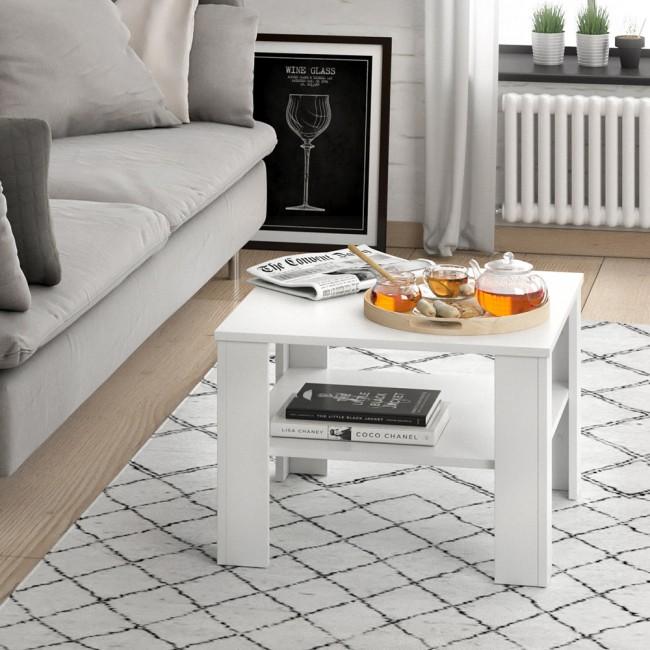 couchtisch wohnzimmertisch wei matt beistelltisch. Black Bedroom Furniture Sets. Home Design Ideas