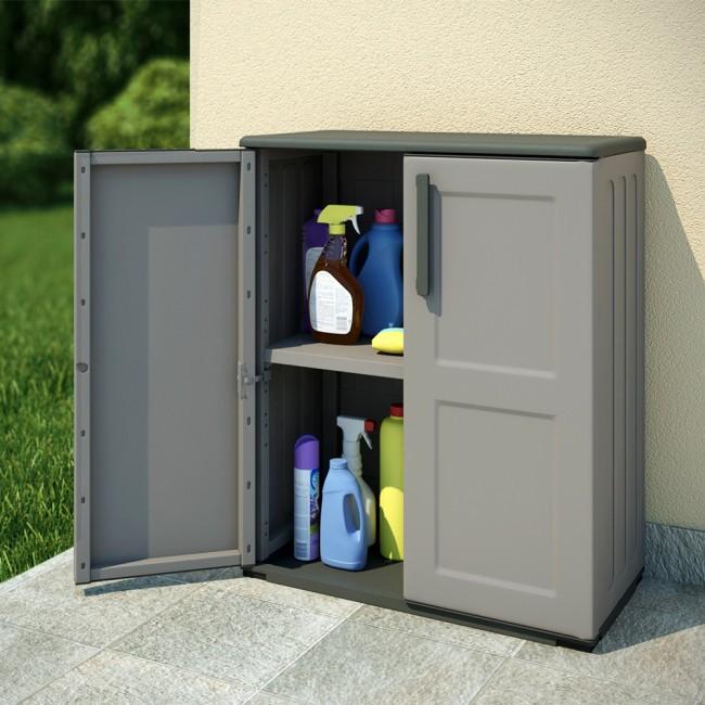 kunststoff schrank beautiful neu with kunststoff schrank inkl regal grauschwarz x with. Black Bedroom Furniture Sets. Home Design Ideas