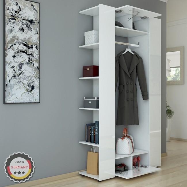 Vicco dielenschrank mats 192 x 106 cm wei hochglanz for Garderobe 60 cm