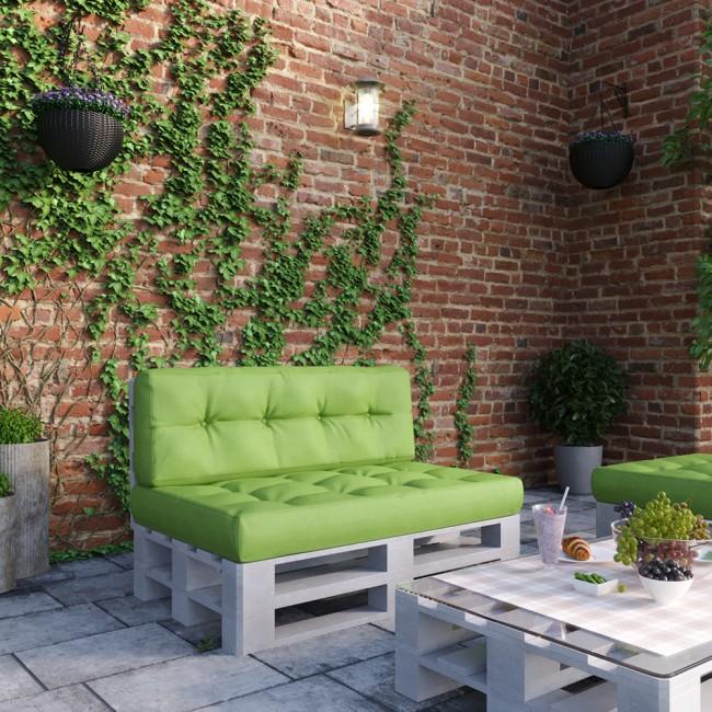 palettenkissen set sitz und r ckenkissen gr n. Black Bedroom Furniture Sets. Home Design Ideas