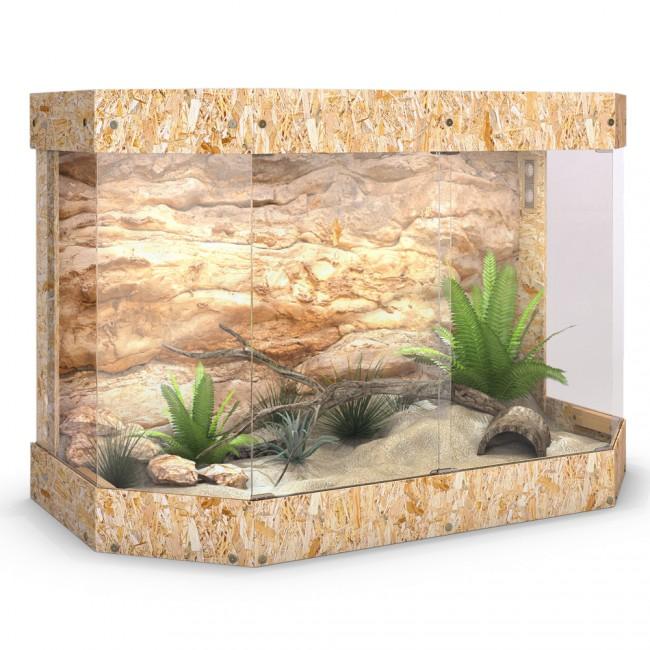 terrarium holz reptil panorama schildkr te schiebet r glas 120x80x60cm. Black Bedroom Furniture Sets. Home Design Ideas