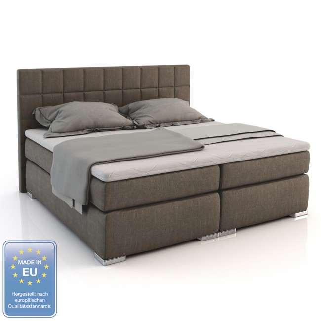 boxspringbett doppelbett hotelbett ehebett classic180 x200 stone. Black Bedroom Furniture Sets. Home Design Ideas