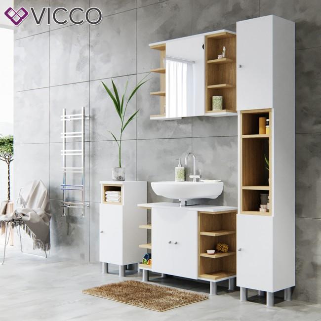 vicco badm bel set aquis wei. Black Bedroom Furniture Sets. Home Design Ideas