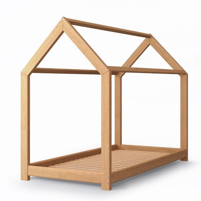 vicco hausbett kinderhaus kinderbett wiki 90x200cm holz natur. Black Bedroom Furniture Sets. Home Design Ideas
