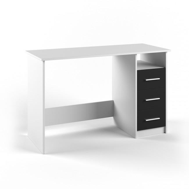 schreibtisch success pc tisch schwarz wei schubladen b rotisch. Black Bedroom Furniture Sets. Home Design Ideas