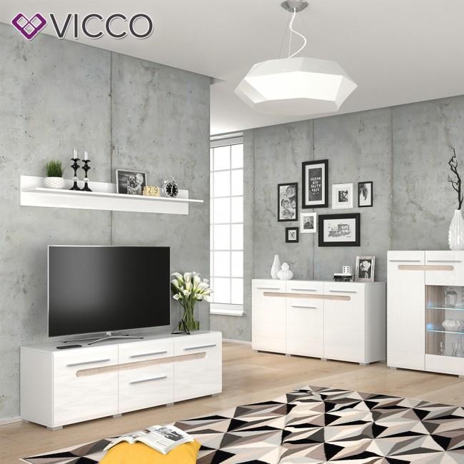 vicco wandregal byanko wei hochglanz. Black Bedroom Furniture Sets. Home Design Ideas