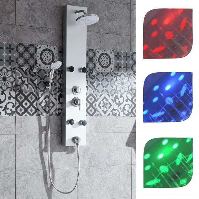 duschpaneel led duschs ule life dusche duschsystem handbrause. Black Bedroom Furniture Sets. Home Design Ideas