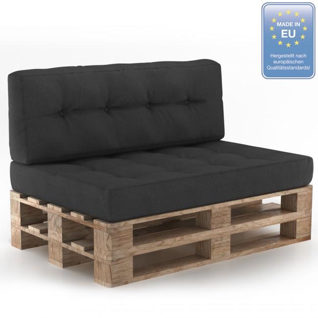 palettenkissen set sitz r ckenkissen anthrazit. Black Bedroom Furniture Sets. Home Design Ideas