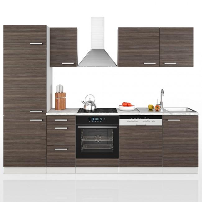 k che 270 cm k chenzeile k chenblock einbauk che komplettk che anthrazit. Black Bedroom Furniture Sets. Home Design Ideas
