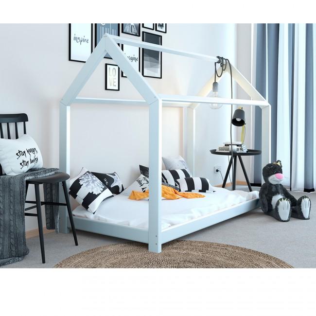 Kinderbett haus  Kinderbett Kinderhaus Kinder Bett Holz Haus Schlafen Spielbett ...