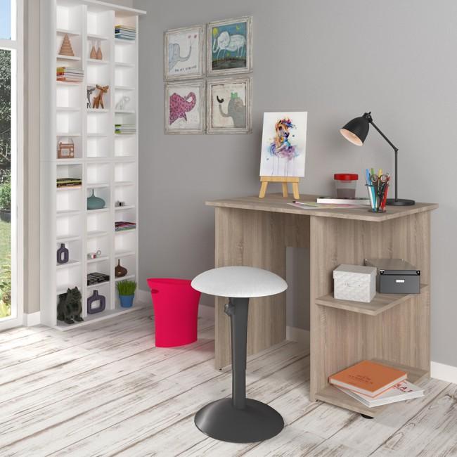 Scrivania libreria con scaffale laterale scrivania da for Scaffale da scrivania