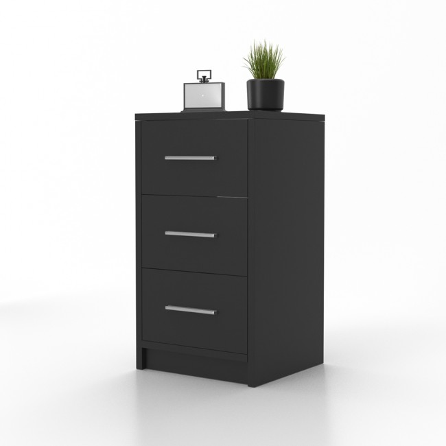 vicco nachtschrank f r boxspringbett schwarz. Black Bedroom Furniture Sets. Home Design Ideas