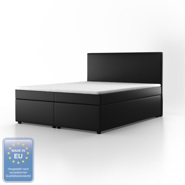 boxspringbett stoff schwarz 160 x 200 cm. Black Bedroom Furniture Sets. Home Design Ideas