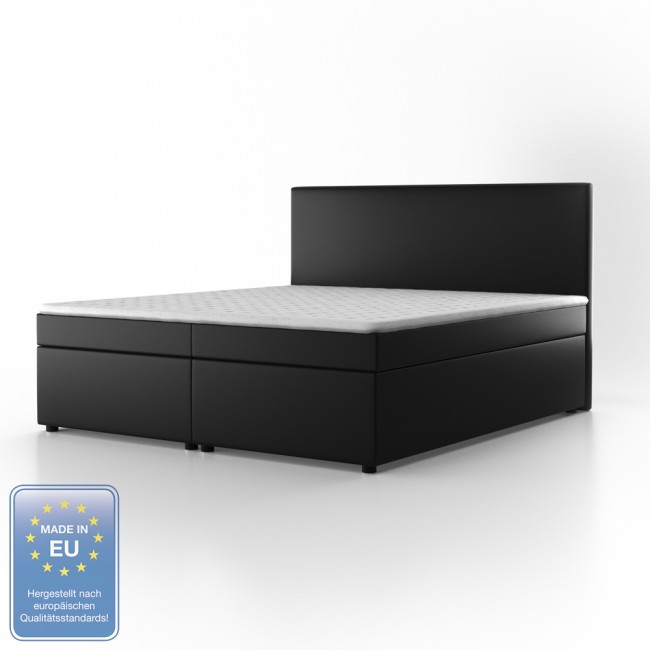 boxspringbett design hotelbett designerbett bett stoff schwarz 180 x 200 cm. Black Bedroom Furniture Sets. Home Design Ideas