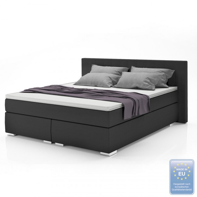 boxspringbett schwarz auswahl. Black Bedroom Furniture Sets. Home Design Ideas