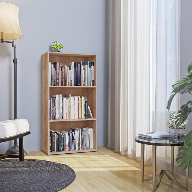 vicco b cherregal easy 117 x 60 cm sonoma eiche. Black Bedroom Furniture Sets. Home Design Ideas