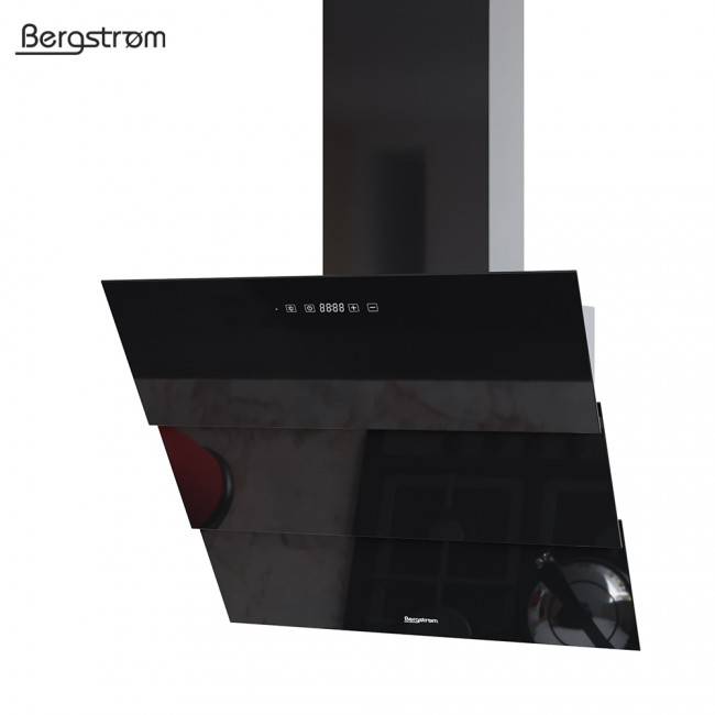 bergstroem rollo dunstabzugshaube glas led wandhaube schr ghaube kopffrei fernbedienung 60 cm. Black Bedroom Furniture Sets. Home Design Ideas