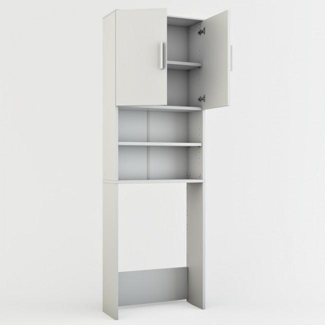 waschmaschinenschrank badregal 190x60cm wei. Black Bedroom Furniture Sets. Home Design Ideas
