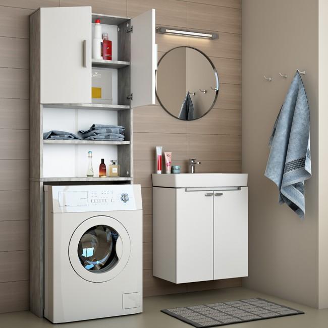 Mobile bagno da incasso per lavatrice armadio bagno pensile grigio ebay - Mobile incasso lavatrice ...