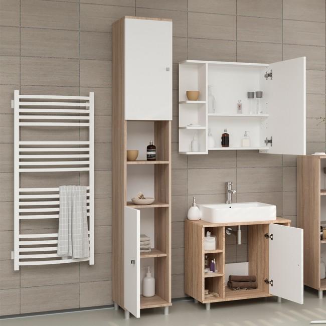 vicco badschrank fynn 190 x 30 cm eiche sonoma. Black Bedroom Furniture Sets. Home Design Ideas