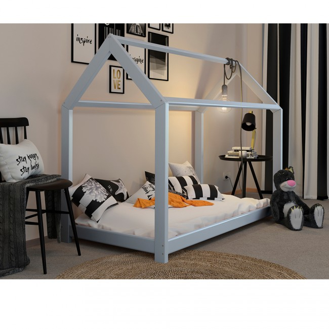 vicco hausbett kinderhaus kinderbett wiki 90x200cm holz wei. Black Bedroom Furniture Sets. Home Design Ideas