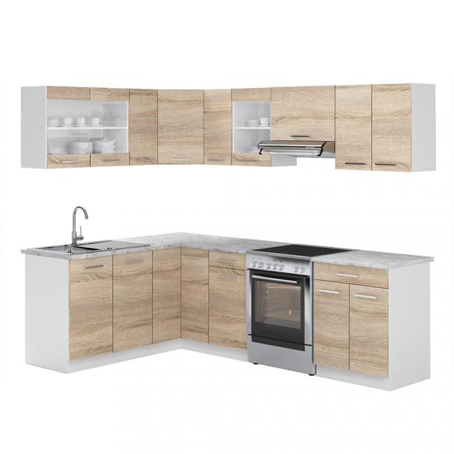 eck k che 250cm sonoma eiche r line. Black Bedroom Furniture Sets. Home Design Ideas