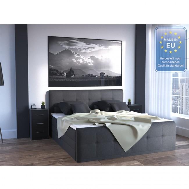 vicco nachtschrank f r boxspringbett schwarz. Black Bedroom Furniture Sets. Home Design Ideas
