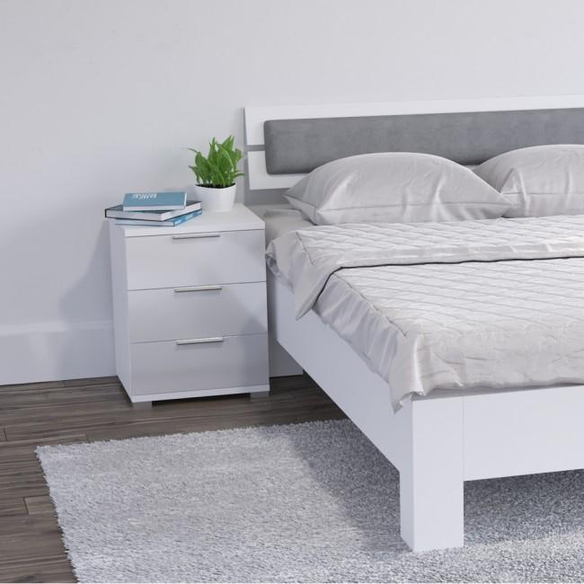 vicco nachtschrank florenz wei hochglanz. Black Bedroom Furniture Sets. Home Design Ideas