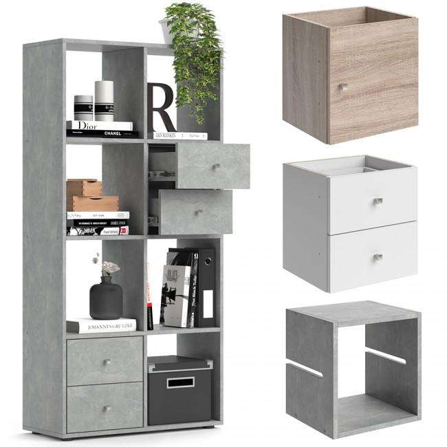 raumteiler scutum 140 x 70 cm eiche sonoma. Black Bedroom Furniture Sets. Home Design Ideas