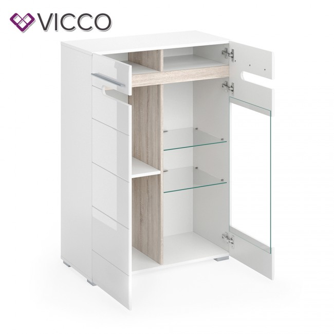 vicco highboard byanko wei hochglanz. Black Bedroom Furniture Sets. Home Design Ideas