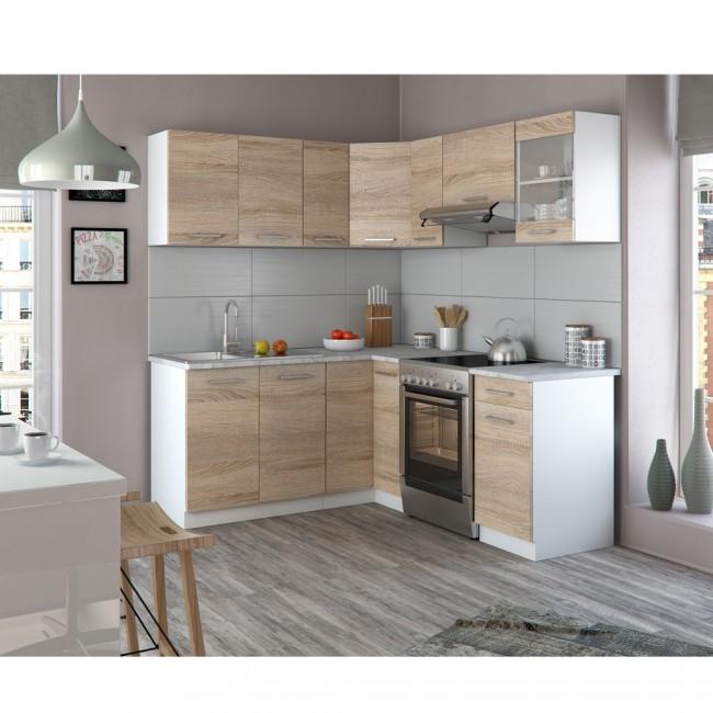 Eck Küche Küchenzeile L Form Küchenblock Einbauküche