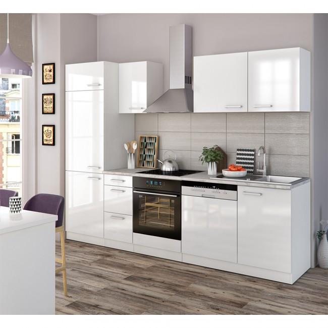 k che 270 cm k chenzeile k chenblock einbauk che. Black Bedroom Furniture Sets. Home Design Ideas