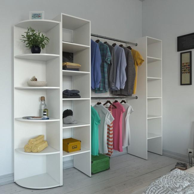 offener kleiderschrank anbauschrank wei umbauschrank. Black Bedroom Furniture Sets. Home Design Ideas