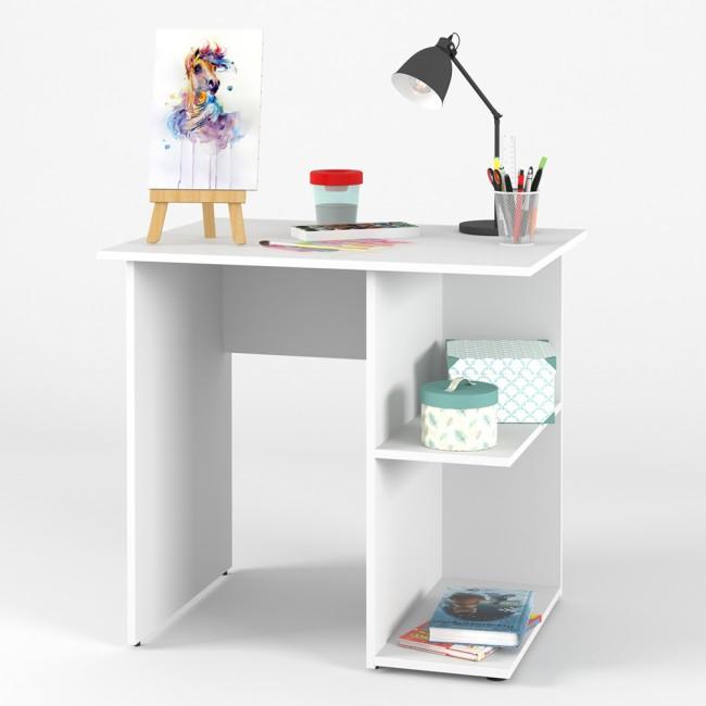 schreibtisch simple pc tisch schwarz wei schubladen b rotisch. Black Bedroom Furniture Sets. Home Design Ideas