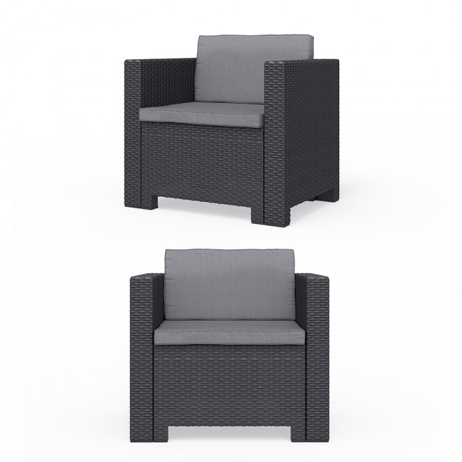 bica colorado lounge set polyrattan gartenm bel rattanoptik sitzgruppe grau. Black Bedroom Furniture Sets. Home Design Ideas